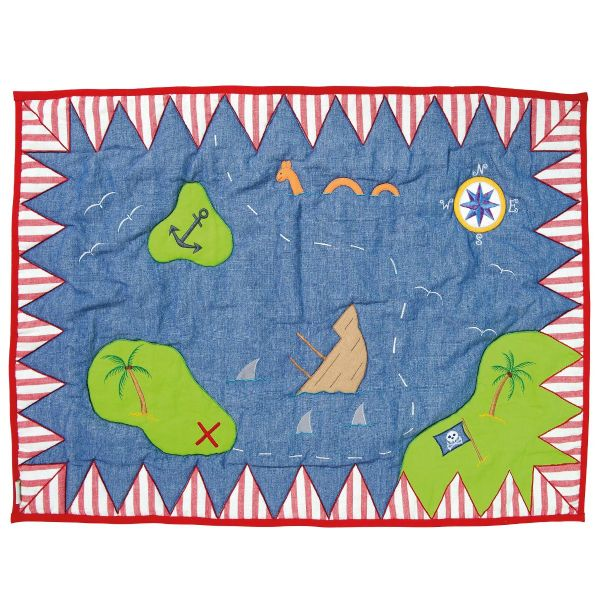 Children's Win Green Small Pirate Shack Floor Quilt